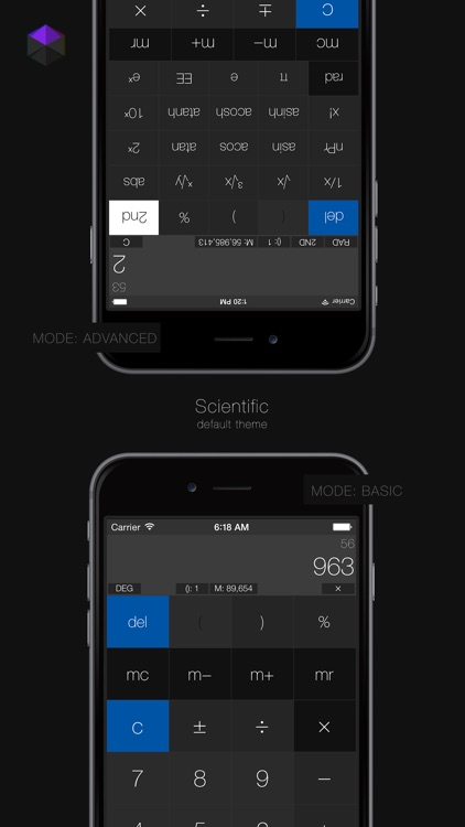 Calculator³: 3-in-1 Scientific, Graphing and Programmer Calculator