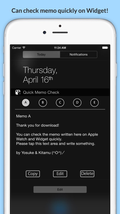 Quick Memo Check - check memos quickly on Watch and Widget