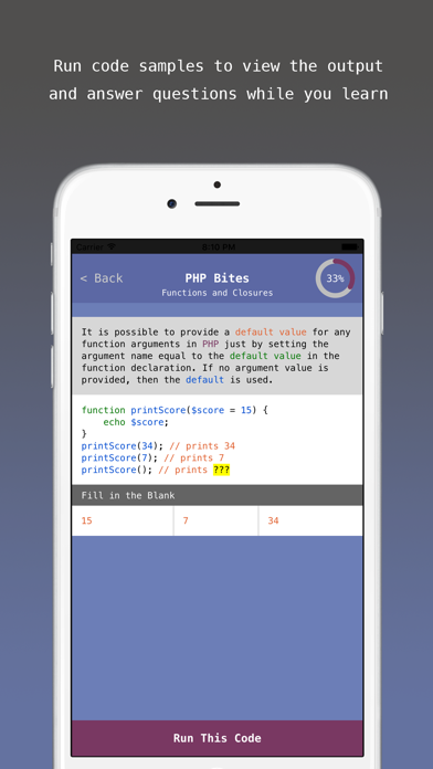 PHP Bites - Learn How to Code in PHP with Interactive Mini Lessons screenshot four