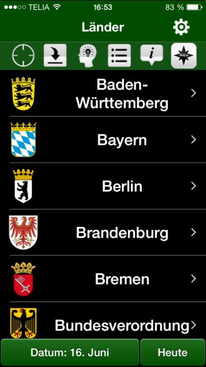 Jagdzeiten.de App