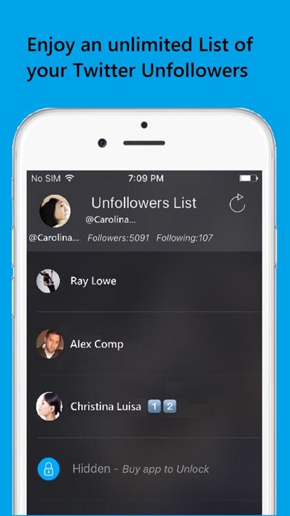 Unfollowers For Twitter