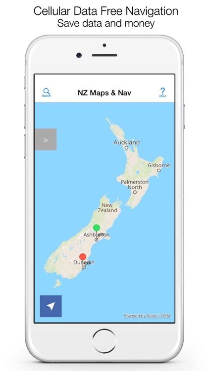 New Zealand Offline Maps and Offline Navigation screenshot-0
