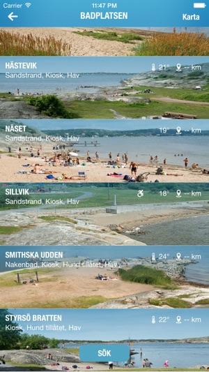 badplatser göteborg karta Badplatsen Götebon the App Store badplatser göteborg karta