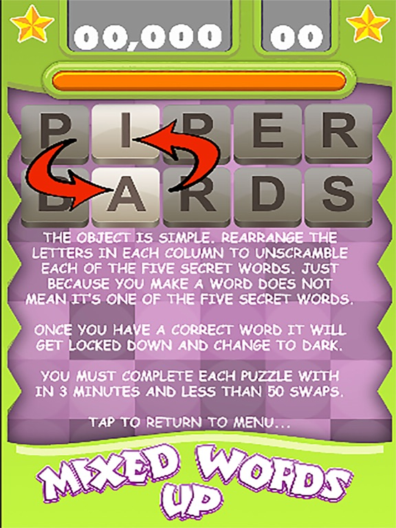 screenshot 2 for mixed up words the 5 letters scrambling game