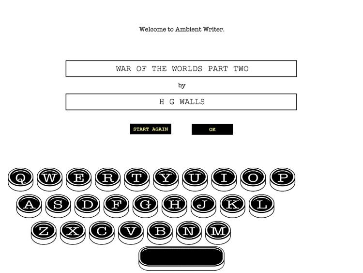 Ambient Writer