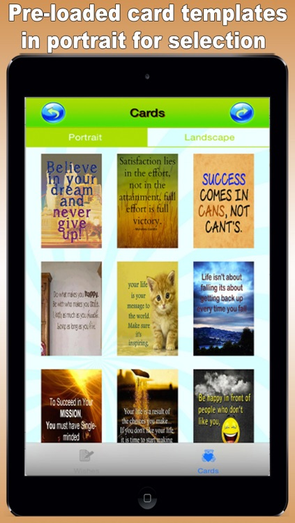 Best Motivation Cards Maker - Customise and Send Motivation eCards with Pre-loaded Templates, Pre-Written Messages, Emails and Social Media screenshot-0