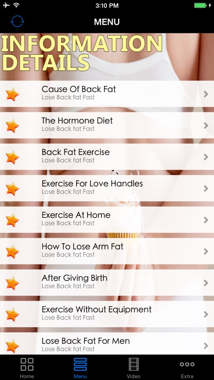 Best Effective Lose Back Fats Workout Diet Guide - Easy Fast Fat Buring Exercise Solutions, Start Today! screenshot-1