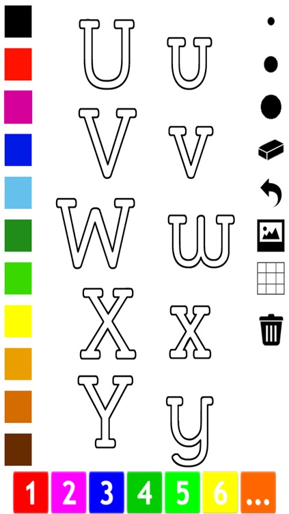ABC Pics Coloring Book for Toddlers with the Letters of the Alphabet screenshot-4