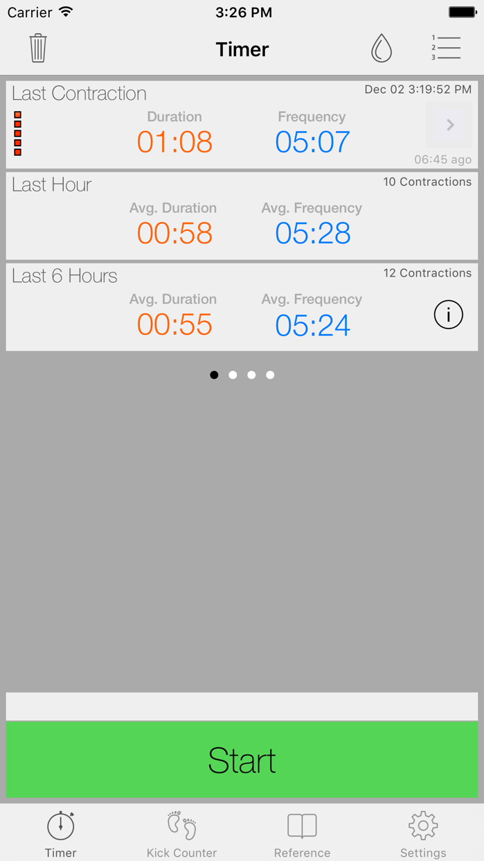 Full Term - Contraction Timer & Pregnancy Toolkit Screenshot