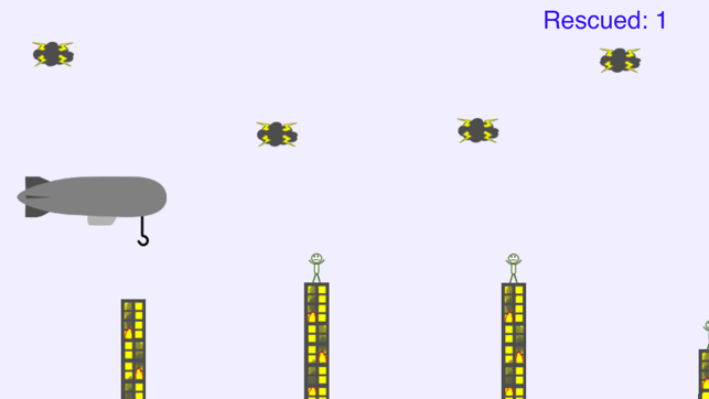 Blimp Rescue, game for IOS