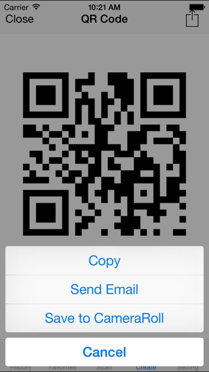 Quick QR code reader & creator screenshot-3