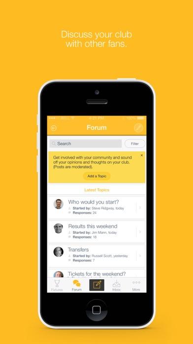 Fan App for Alloa Athletic FC screenshot two