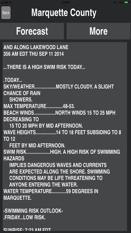 Great Lakes of USA Weather Forecast screenshot-3