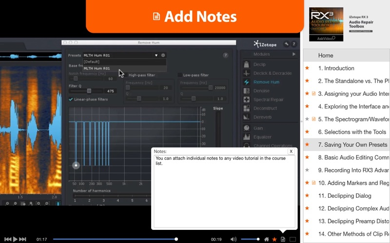 AV for iZotope RX 3 - Audio Repair Toolbox | App Price Drops