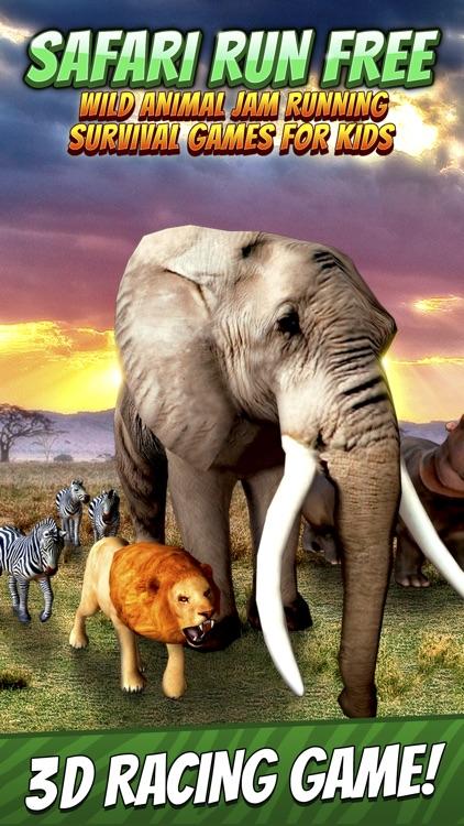 Safari Run Free - Wild Animal Jam Running Survival Games for Kids