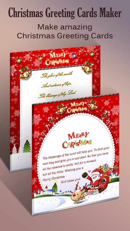 Christmas Greeting Cards Maker - Mail Thank You & Send Wishes with Greeting Frames plus Stickers screenshot-3