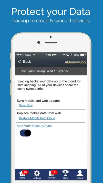 aMemoryJog PRO Secure Password Manager Vault & Digital Passcodes Safe screenshot-4
