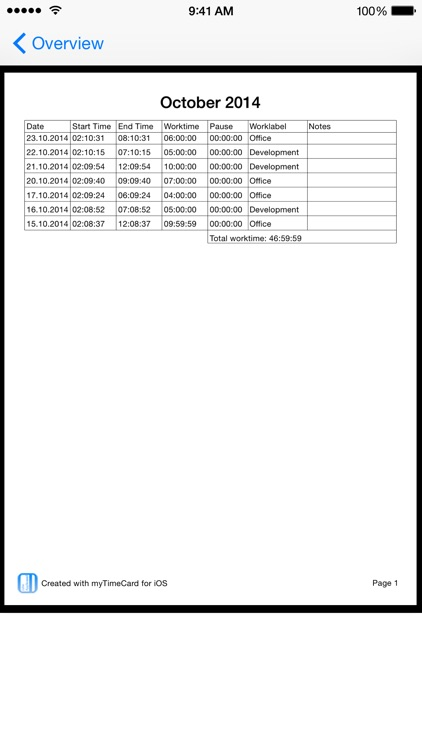 Timecard i - 1 Click Time Tracking screenshot-4