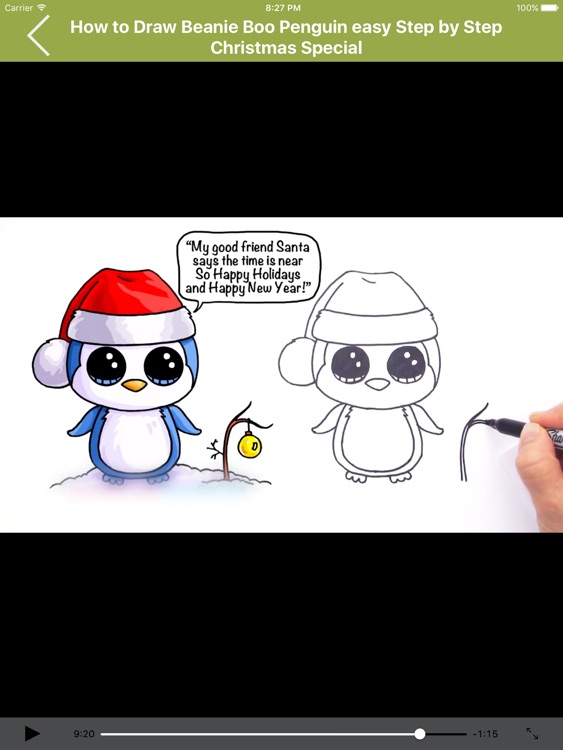 How To Draw Christmas Characters Cute For Ipad By Angia Le
