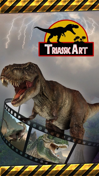 Triassic Art Photo Booth - Insert A World of Dinosaur Special Effects in Your Images