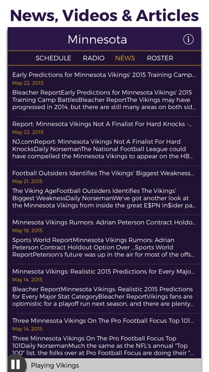 Minnesota Football Radio & Live Scores screenshot-4