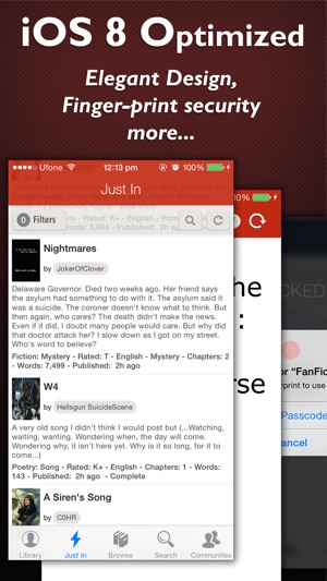 Fictionpress library of books ebooks and peoms on the app store screenshots fandeluxe Image collections
