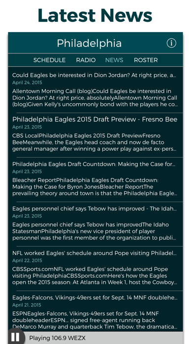 Philadelphia Football Radio & Live Scores screenshot four