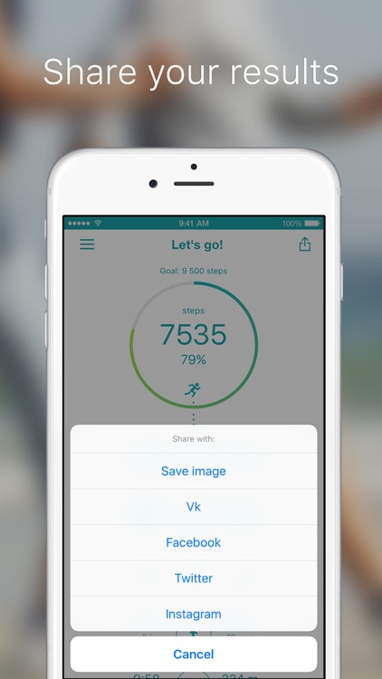 Let's go! is a pedometer. The calculation of the walked distance: walking, running. screenshot-4