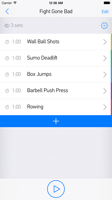 FitHIT — Interval Timer & Workout Log screenshot two