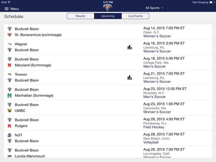 Bucknell Bison for iPad 2015 screenshot-2