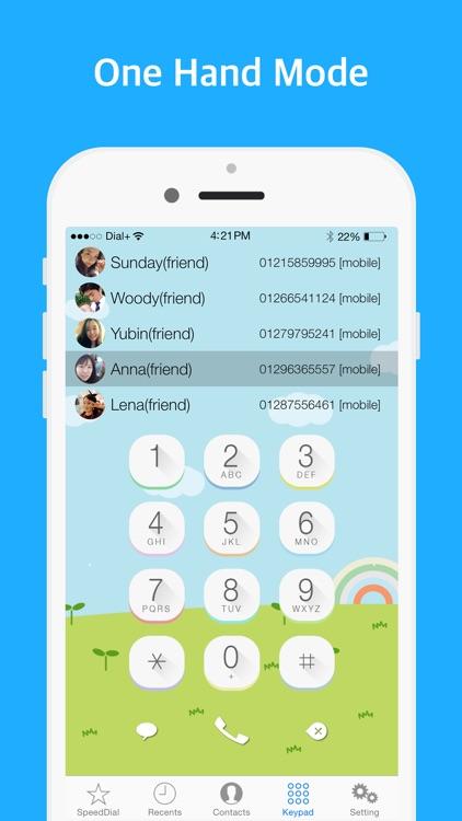 Dial+ (speed dial, Widget dial, one hand mode) screenshot-3
