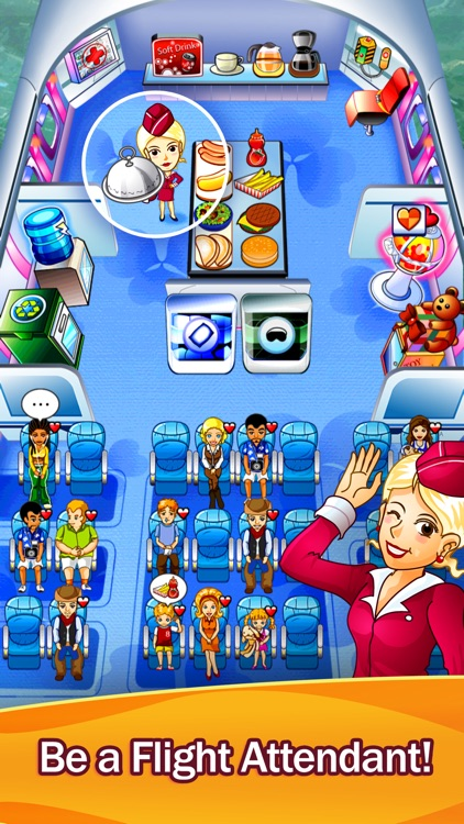 First Class Flurry HD - Flight Attendant Time Management Game screenshot-0