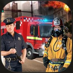 911 Rescue Truck Driver City Emergency 3D Simulator Game