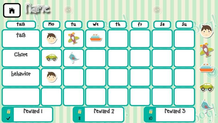 My Reward Calendar - Reward your kids for behaviors, tasks, chores and goals