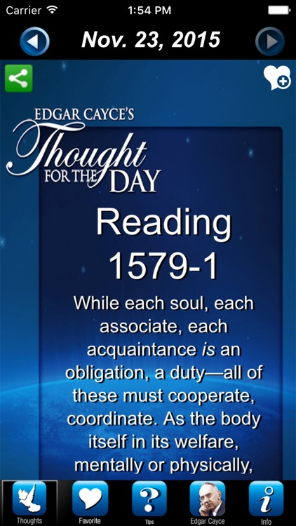 Edgar Cayce's Thought for the Day by EdgarCayce