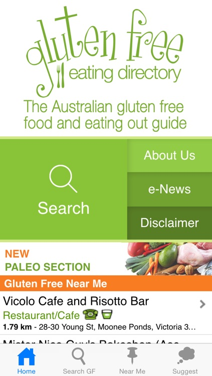 Gluten Free Eating Directory 1.5 screenshot-0