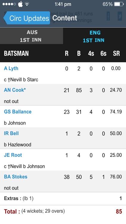 Cric Updates - Live Cricket Score and News screenshot-3