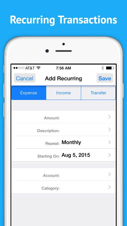 Checkbook Ledger Free - Reconcile and balance your checkbook register screenshot-3