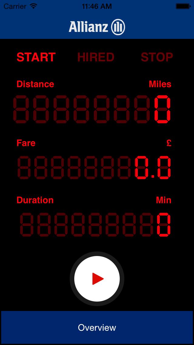 Allianz Taxi Meter screenshot one