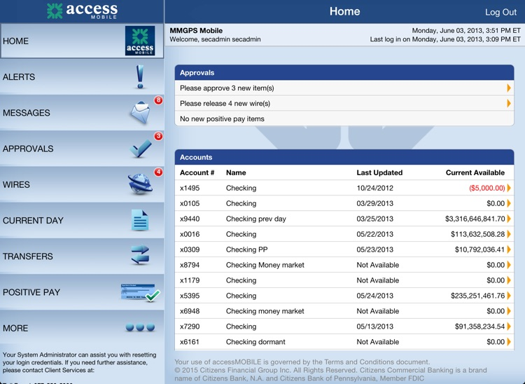 accessMOBILE for iPad screenshot-1