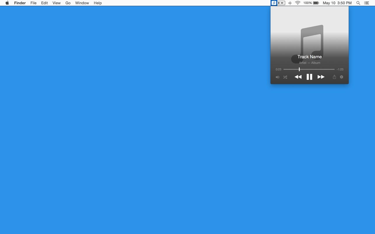 Skip Tunes Mac 破解版 iTunes菜单栏控制播放插件