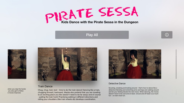 Kids Dance with Pirate Sessa in the Dungeon
