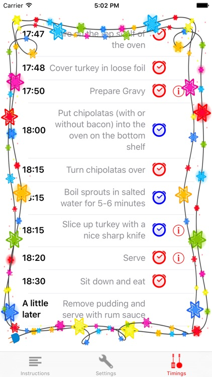 Christmas Dinner Timings