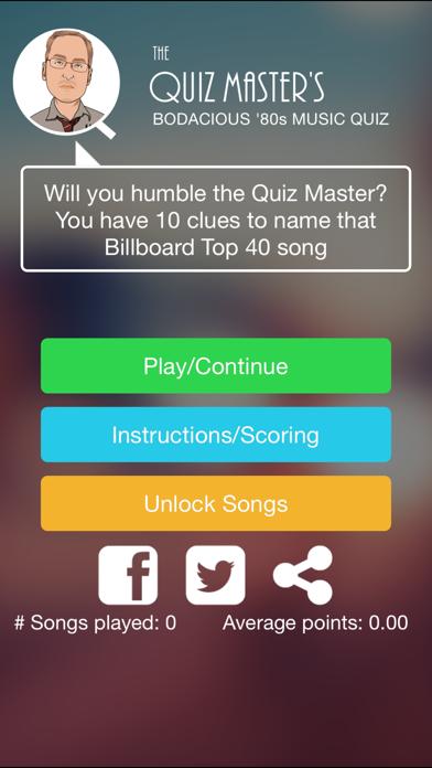 Quiz Master's 80s Music Quiz screenshot one