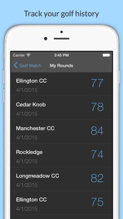 Golf Watch - Scorecard for iPhone and Apple Watch screenshot-3