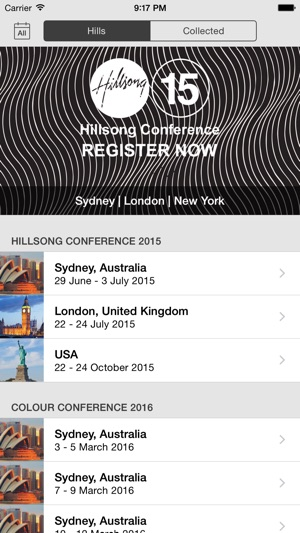 Hillsong on the App Store