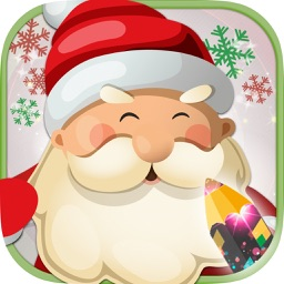 Christmas coloring pages for children - Paint and color Christmas
