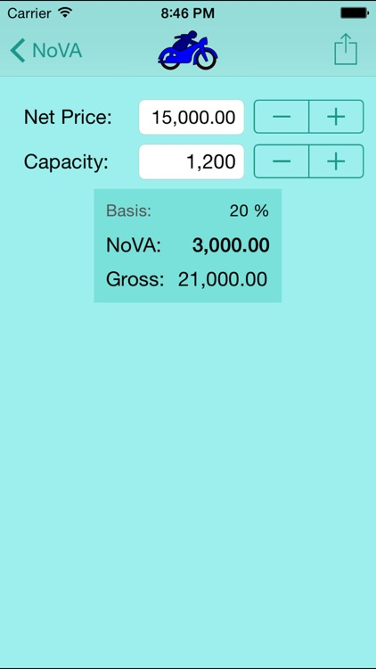 NoVA Calculator for Austrian Vehicles
