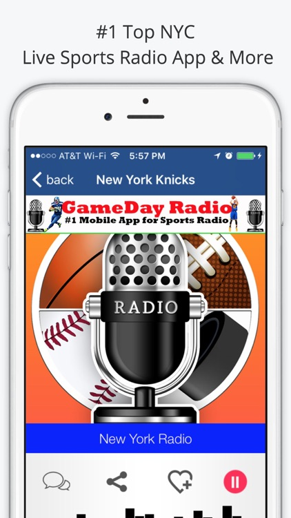 New York GameDay Radio for Live Sports, News, and Music – Giants, Yankees, and Knicks Edition screenshot-3