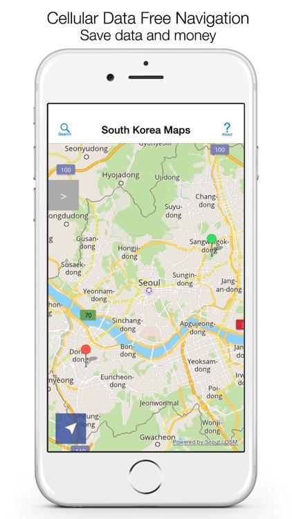 South Korea Offline Maps & Offline Navigation screenshot-0